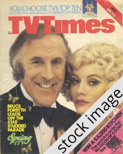 TVT 1977/15 - April 9-15, 1977 (London) EASTER ISSUE / BRUCE AND MORE GIRLS - with cover photo of Bruce Forsyth.