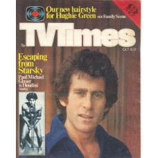 TVT 1977/42 - October 15-21, 1977 (ATV) THE GREAT HOUDINIS - with cover photo of Paul Michael Glaser.