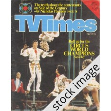 TVT 1977/51 - December 17-23, 1977 (London - Thames/LWT) THE CIRCUS WORLD CHAMPIONSHIPS