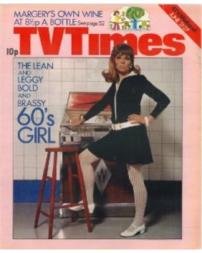 TVT 1975/26 - June 21-27, 1975 (London) The lean and leggy bold as brass 60's girl - with cover photo of Carol Drinkwater.