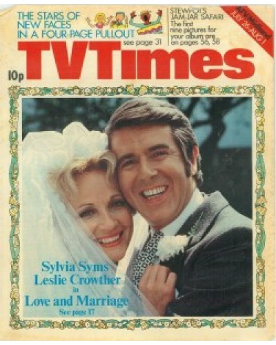 TVT 1975/31 - July 26-August 1, 1975 (London) LOVE AND MARRIAGE - with cover photo of Sylvia Syms and Leslie Crowther.
